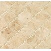 "Bedrosians Marble 12.25"" x 13.25"" Mosaic Tile in Cappuccino"