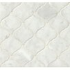 Bedrosians Polished Marble Mosaic Tile in White Carrara