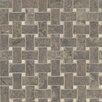 Bedrosians Honed Marble Mosaic Tile in Silica Brown and Sebastian Gray