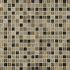 """Bedrosians Elume 0.63"""" x 0.63"""" Glass and Natural Stone Mosaic Tile in Multi"""