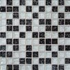 Bedrosians Ice Crackle 1'' x 1'' Glass Mosaic Tile in Black and Gray