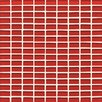 "Bedrosians Hamptons 0.63"" x 1.19"" Glass Mosaic Tile in Red"
