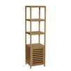 "Gallerie Decor Spa 14.5"" x 54.5"" Free Standing Linen Tower"