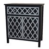 Gallerie Decor Trellis Cabinet 1 Drawer and 2 Door Chest