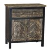 Gallerie Decor Wovenwood 1 Door 1 Drawer Cabinet