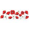 Innova Glasbild Rote Mohnblumen, Fotodruck
