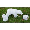 Derry's 3 Piece Christmas Polar Bear Family Set