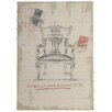 Derry's Leinwandbild Antique Chippendale Chair Kunstdruck