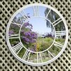 Round Garden Roman Numeral Mirror Wall Decor - SunTime Outdoor Living Garden Statues and Outdoor Accents