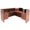 Regency Double Pedestal L-Shape Reception Desk