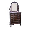 D-Art Collection England 8 Drawer Dresser with Mirror