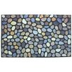 J and M Home Fashions Pebbles Printed Flocked Doormat