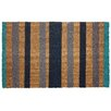 J and M Home Fashions Stripes Doormat