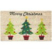 J and M Home Fashions Christmas Trees Coco Doormat