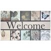 J and M Home Fashions Botanical Garden Printed Flocked Doormat