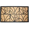 J and M Home Fashions Light Daisy Natural Doormat