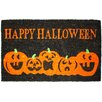 J and M Home Fashions Halloween Pumpkins Doormat