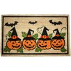 J and M Home Fashions Halloween Row of Pumpkins Doormat