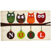 J and M Home Fashions Christmas Noel Owls Doormat