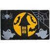J and M Home Fashions Halloween Full Moon Doormat