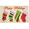 J and M Home Fashions Christmas Stockings Doormat