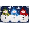 J and M Home Fashions Christmas 3 Snowmen Doormat