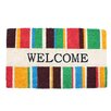 J and M Home Fashions Welcome Stripes Doormat