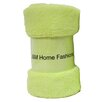 J and M Home Fashions Bright Fuzzy Fleece Throw