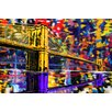Maxwell Dickson 'Brooklyn Bridge' New York City Graphic Art on Wrapped Canvas
