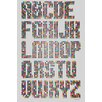 "Maxwell Dickson ""Alphabet Dots"" Textual Art on Canvas"