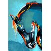 Maxwell Dickson 'Blue Stallion' Graphic Art on Wrapped Canvas