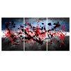 "Maxwell Dickson ""Beautiful Mind"" 3 Piece Painting Print on Canvas Set"