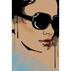 Maxwell Dickson 'Michelle' Portrait Fashion Painting Print on Wrapped Canvas