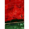 Maxwell Dickson 'By a Thread' Abstract Graphic Art on Wrapped Canvas