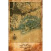 Maxwell Dickson 'Map New York City' Antique Old Graphic Art on Wrapped Canvas