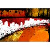 Maxwell Dickson 'Streets of Gold' Abstract Graphic Art on Wrapped Canvas