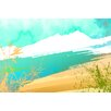 Maxwell Dickson 'Paradise Sand' Abstract Painting Print on Wrapped Canvas