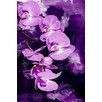 "Maxwell Dickson ""Purple Orchid"" Graphic Art on Canvas"