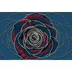 """Maxwell Dickson """"Rose"""" Graphic Art on Canvas"""
