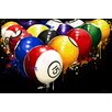 Maxwell Dickson 'Rack'em' Pool Billiards Graphic Art on Wrapped Canvas