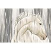 "Maxwell Dickson ""White Horse"" Painting Print on Canvas"