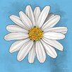 Maxwell Dickson 'White Daisy' Abstract Graphic Art on Wrapped Canvas