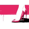 Maxwell Dickson 'Pink Stilettos' Shoes Fashion Graphic Art on Wrapped Canvas
