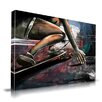 Maxwell Dickson 'Road Surfing' Skateboard Skater Graphic Art on Wrapped Canvas