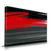 Maxwell Dickson 'Rouge' Abstract Brushstrokes Painting Print on Wrapped Canvas