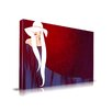 Maxwell Dickson 'Lady in Hat' Fashion Graphic Art on Wrapped Canvas