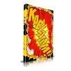 Maxwell Dickson 'Kablamm!' Comic Textual Art on Wrapped Canvas