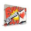 Maxwell Dickson 'Love Gun' Graffiti Graphic Art on Wrapped Canvas