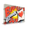 Maxwell Dickson 'Love Gun' Graffiti Graphic Art on Wrapped Canvas