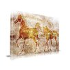 Maxwell Dickson 'Horses on the Wall' Contemporary Graphic Art on Wrapped Canvas